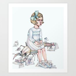 Miss Mary Hodgdon Art Print