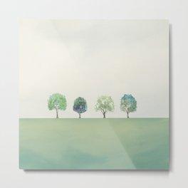Green Sunny Field II Metal Print