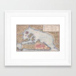 Vintage Map of San Juan Puerto Rico (1770) Framed Art Print