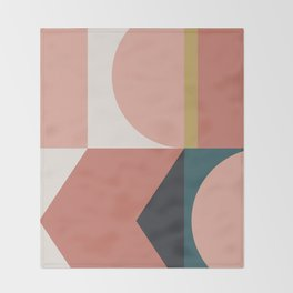 Maximalist Geometric 02 Throw Blanket