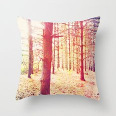Fantasy in the Pines Throw Pillow