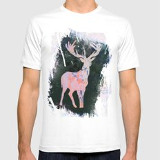 Rudolph MEDIUM White Mens Fitted Tee