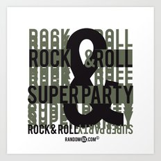 Rock and Roll Superparty Art Print