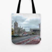dublin Tote Bags featuring Dublin by Christine Workman