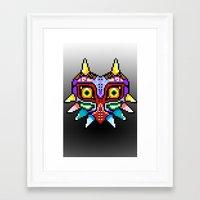 majoras mask Framed Art Prints featuring Majoras Mask /Pixel /zelda by tshirtsz