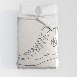Chucks - Single line art Comforters