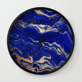 Lapis Lazuli Liquid Art Wall Clock
