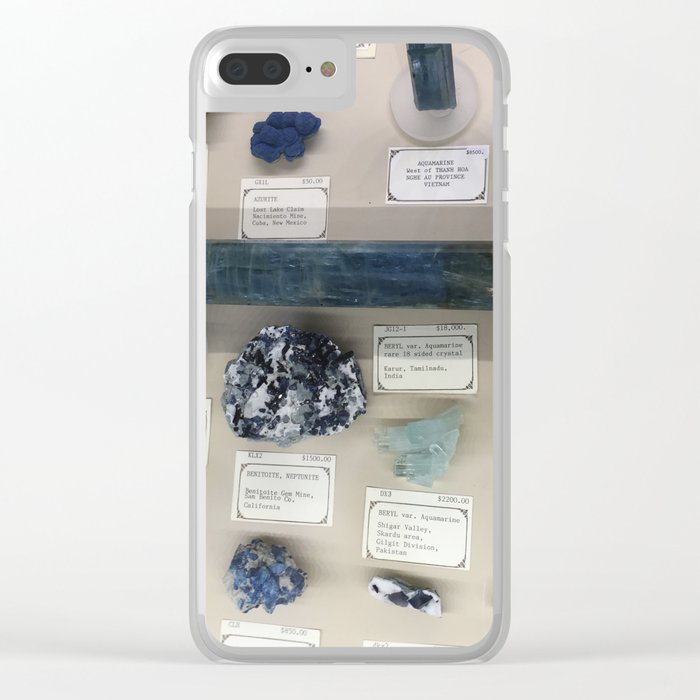Blue gems Clear iPhone Case
