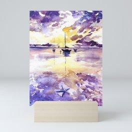 Starfish and Sailboat Mini Art Print