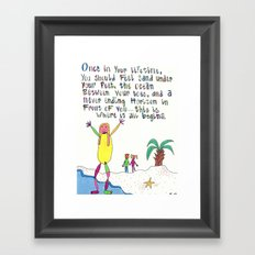 Sand Between Your Toes Framed Art Print