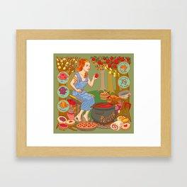 Jamming with Pectin Framed Art Print