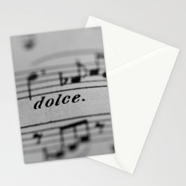 The Sweetness of Life #music#dolce#decor Stationery Cards