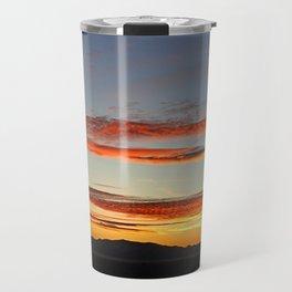 Sunset Panorama Overlooking Great Salt Lake and Antelope Island. Travel Mug
