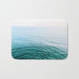 Blue Green Lake Bath Mat