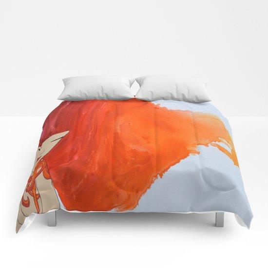 Tattooed Beauty (Red/Orange) - Hair Series Comforters
