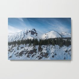 Mount Price Covered in Snow in Garibaldi Provincial Park Metal Print