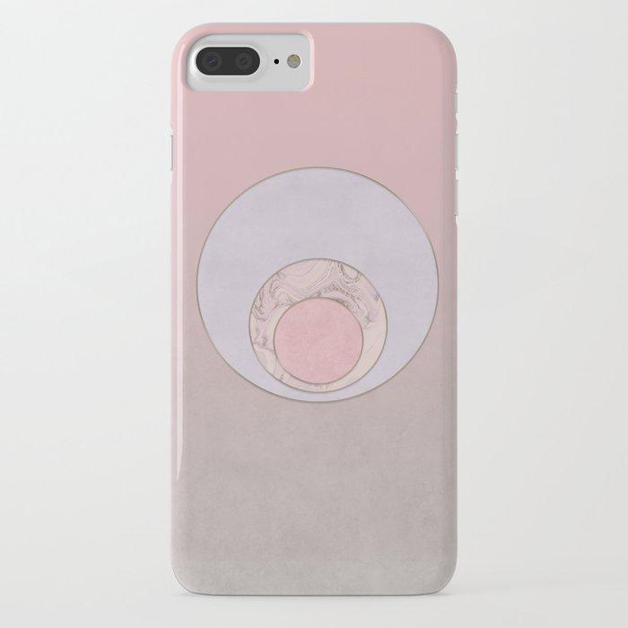 Soft Pastel Elegant Circles iPhone Case