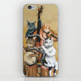 Cat Quartet iPhone Skin