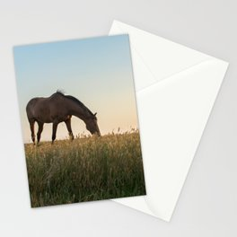 Grazing at Sunset Stationery Cards