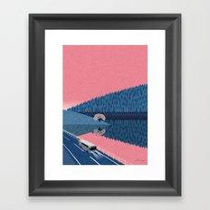 Lake in the morning Framed Art Print