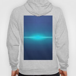 Blue Abstract Light Burst Design Hoody