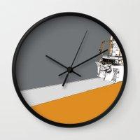 train Wall Clocks featuring Train by Phillip Kauffman