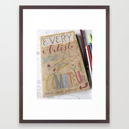 Amateur To Artist Framed Art Print