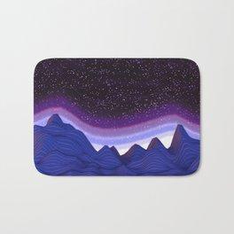 Mountains in Space Bath Mat