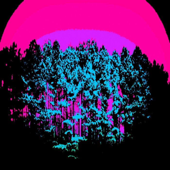 Mod Trees: Fuchsia Purple Turquoise Duvet Cover
