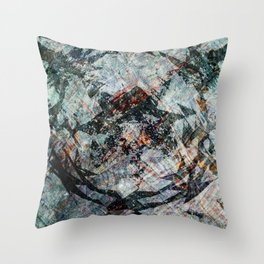 iDeal - Chaos Theory - Slate Throw Pillow