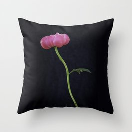 Peony single flower Throw Pillow