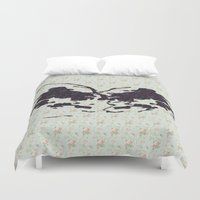 rorschach Duvet Covers featuring Rose Rorschach by Laps