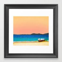 Mellow Beach Framed Art Print