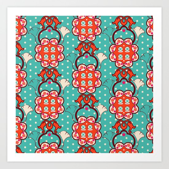 Creative pattern Art Print