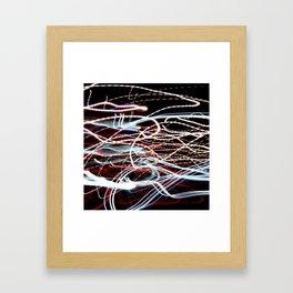 Abstract Light Trails #1 Framed Art Print