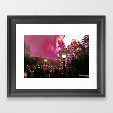 Firework Haze Framed Art Print