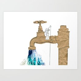 Paper Faucet Art Print