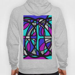 Community II - Purple and Blue Abstract Hoody