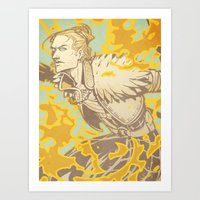 dragon age Art Prints featuring Dragon Age: Justice by Sara Cuervo