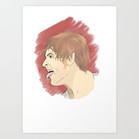 "wwe Art Prints featuring WWE Dean Ambrose - ""Lunatic Fringe"" by Little Tigy"