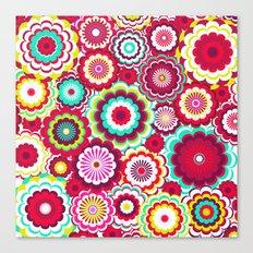 Bright Flower Dash Canvas Print