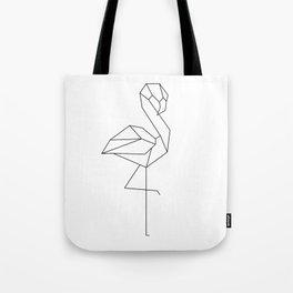 Low Poly Geometric Flamingo Tote Bag