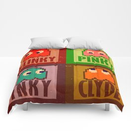 Inky, Pinky, Blinky and Clyde Comforters
