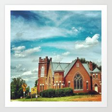 Church of Vintage Beauty  Art Print