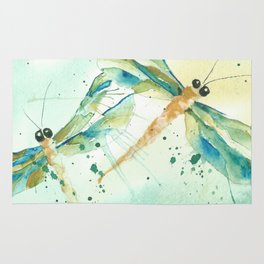 Dragon fly love Rug