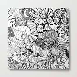 Cartoon hand-drawn doodles Metal Print