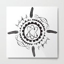 Native Stem Mandala Metal Print