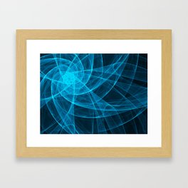 Tulles Star Computer Art in Blue Framed Art Print