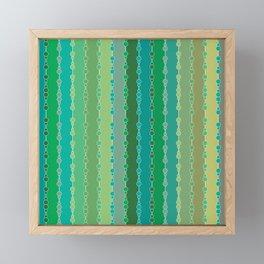 Multi-faceted decorative lines 6 Framed Mini Art Print