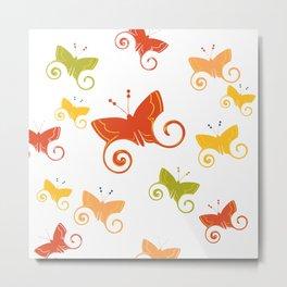 Summer butterflies Metal Print